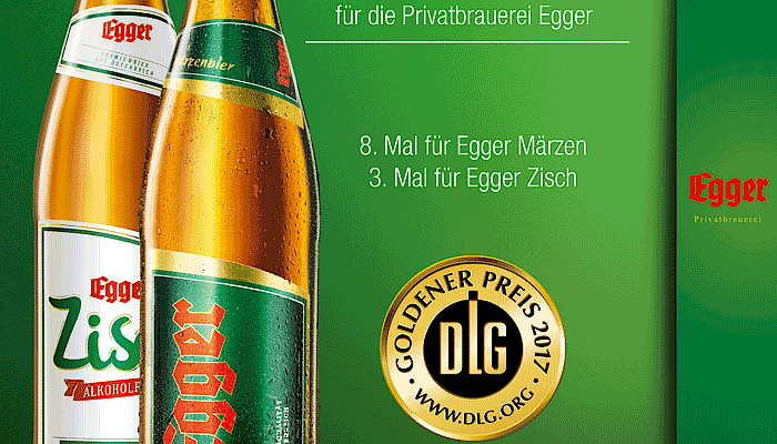 Private brewery Egger again wins GOLD